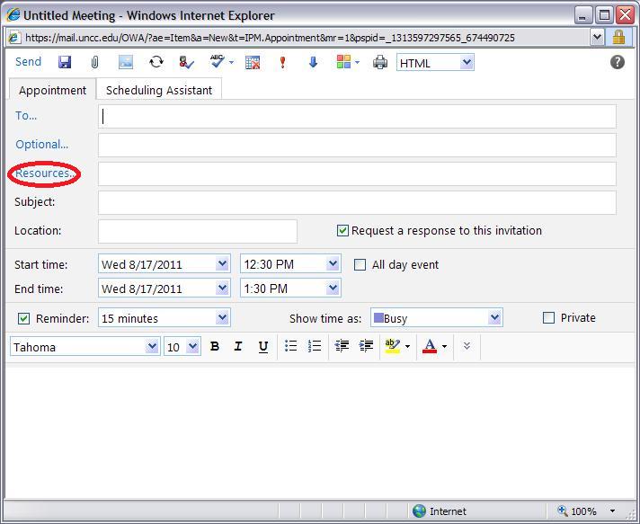 LRC Outlook/Exchange 2010 Resource Calendaring: LRC