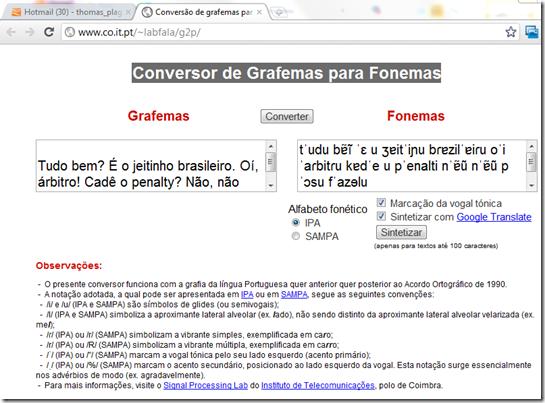 demo-portuguese-Conversor-de-Grafemas-para-Fonemas