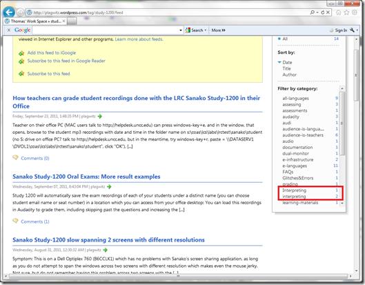 RSS XML categories case-sensitive IE9 not wordpress