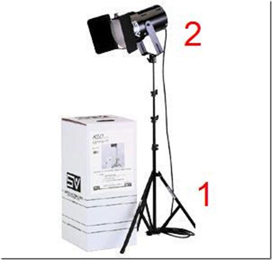 q60-sg light and Raven RS8 8 ft. Aluminum Light Stand