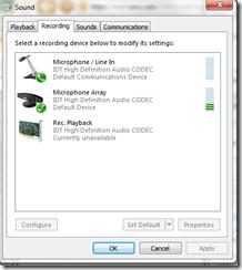 windows audio for messenger3