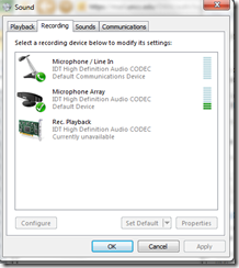 windows audio for messenger3