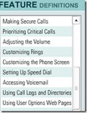 cisco 7912 tutorial feature menu2