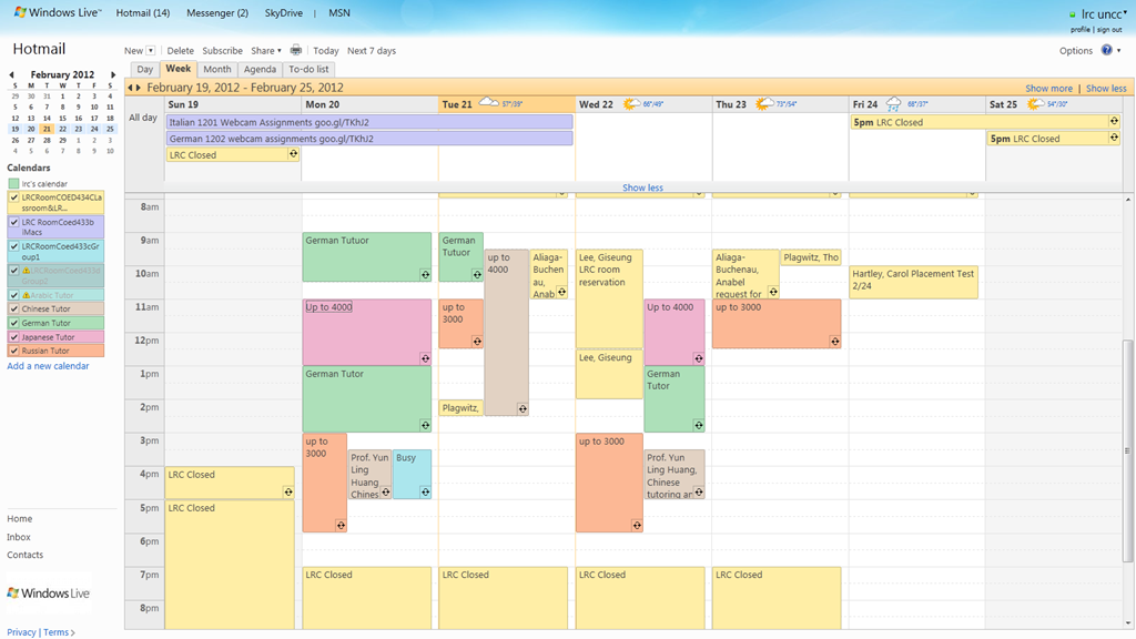 Room Schedule Template Idealstalist
