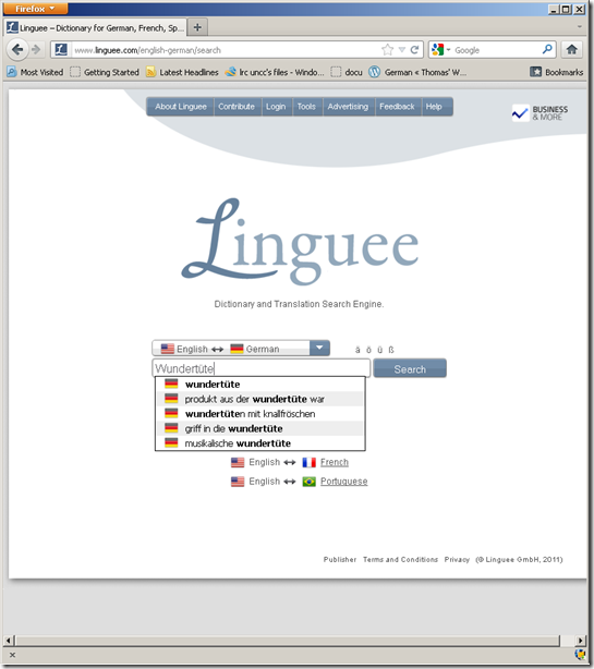 linguee parallel corpora dictionary lookup1