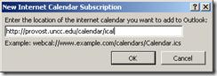 ooutlook calendar add url