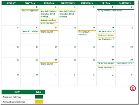 provost-calendar-in-webbrowser