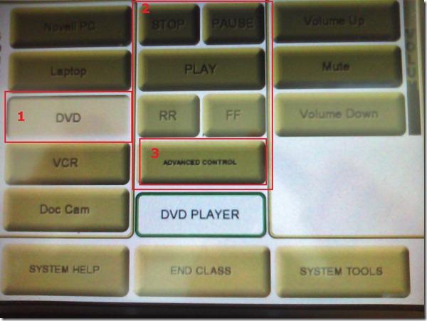 dvd av control panel