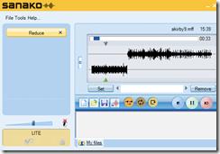 sanako light recorder no insert audio on 1