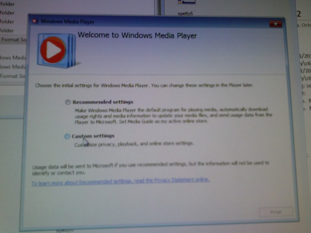 Can we get rid of Windows Media Player first run experience