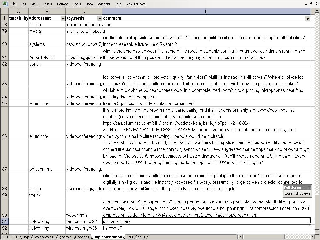 Demoing a requirements gathering template for IT project ...